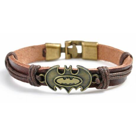 Batman bőr karkötő