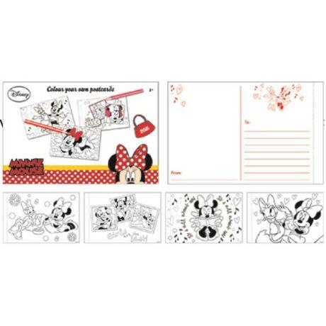 Minnie egeres színezhető 20 db-os képeslap