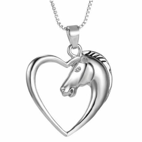 Szíves ló nyaklánc