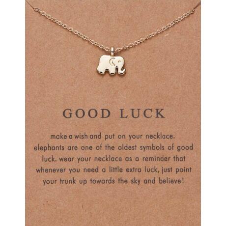 Szerencse hozó elefántos nyaklánc