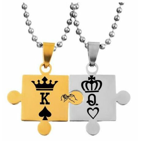 King & Queen acél páros nyaklánc