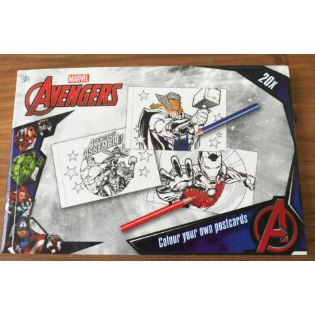 Avengers (Bosszúállók) színezhető 20 db-os képeslap