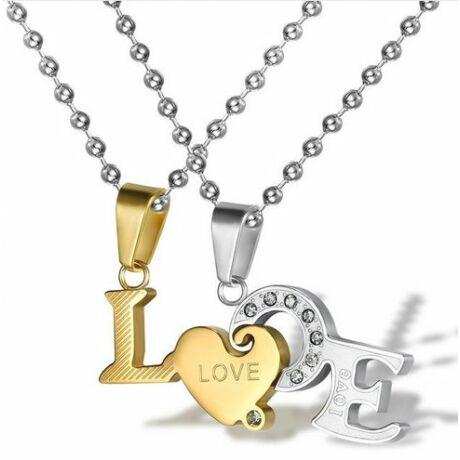 """Páros ezüst nyaklánc """"LOVE"""""""