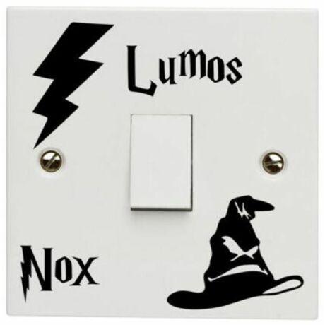 Harry Potter Lumos Nox villanykapcsoló matrica