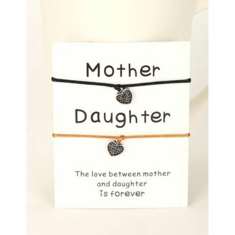 Fekete-arany anya-lánya páros karkötő