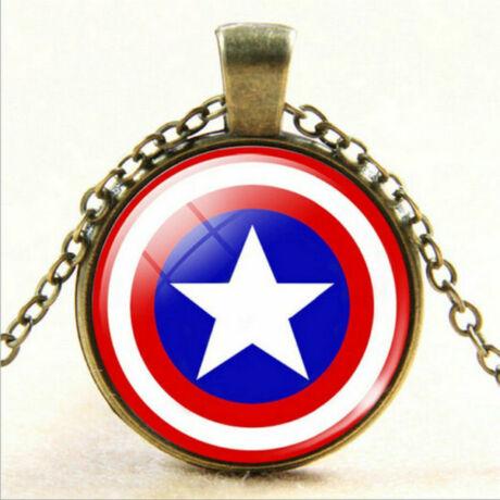 Amerika kapitány üveges nyaklánc