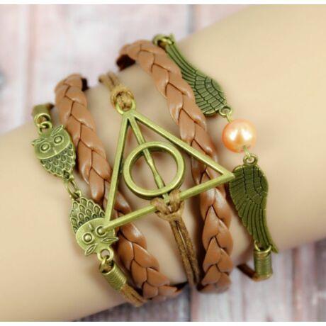 Baglyos Harry Potter karkötő