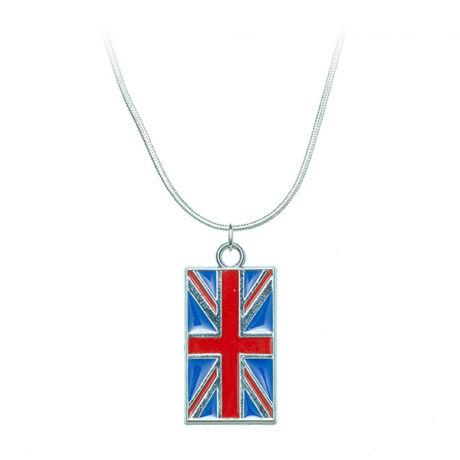 Brit zászlós nyaklánc