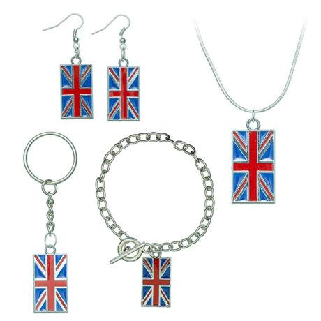 Brit zászlós ékszer szett