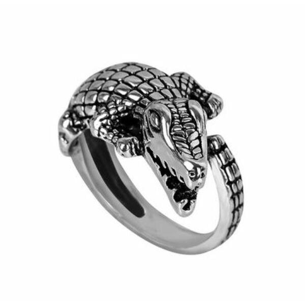 Krokodil gyűrű