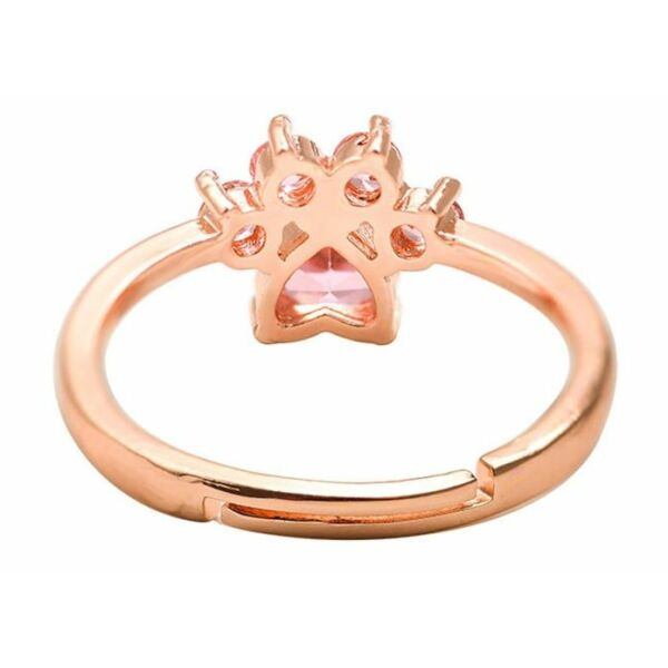 Strasszköves tappancs gyűrű