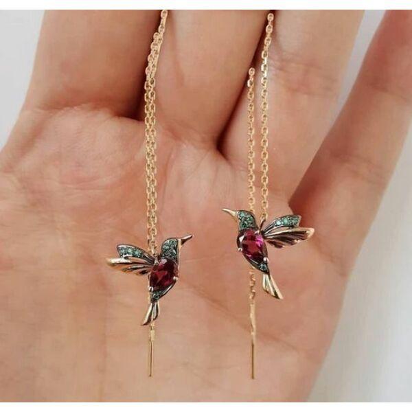 Kolibris fülbevaló