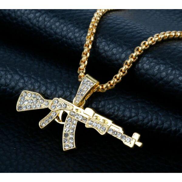 Strasszköves AK47 nyaklánc