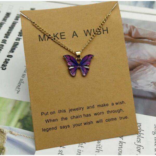 Pillangós kívánság nyaklánc