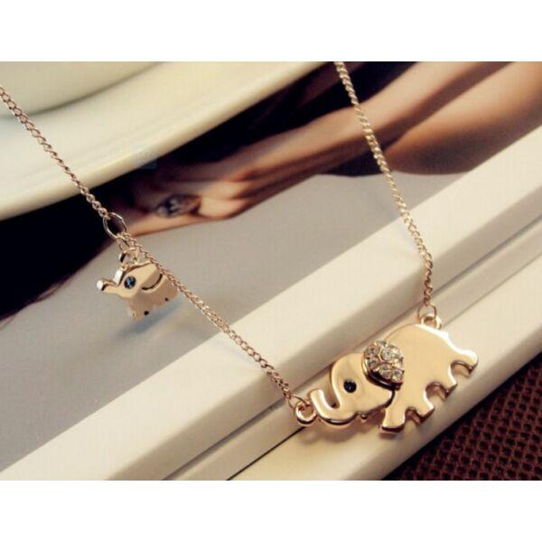 Kis és nagy elefánt nyaklánc