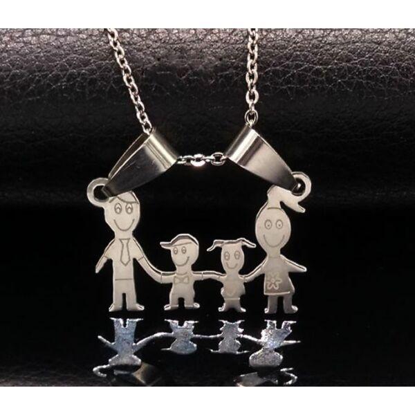 Acél család nyaklánc