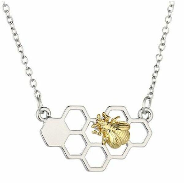 Kaptár alakú méhecskés nyaklánc