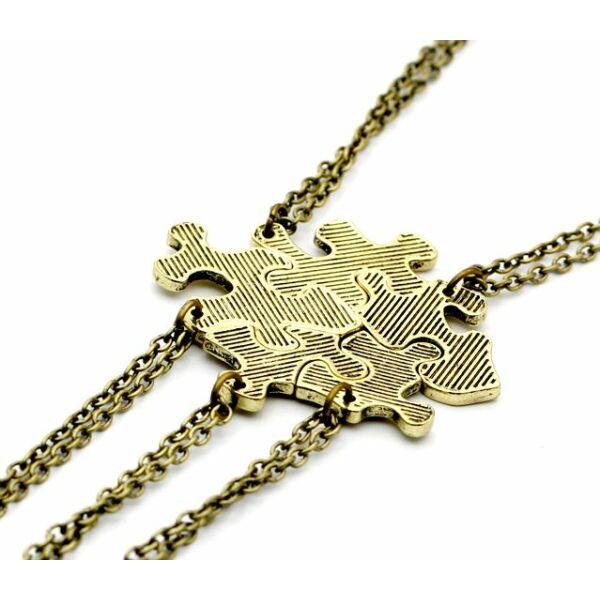 Ötrészes puzzle barátság nyaklánc