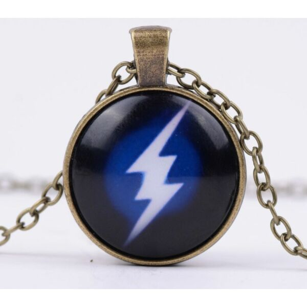 Flash (Villám) üveges nyaklánc