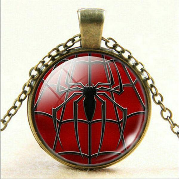 Pókember üveges nyaklánc