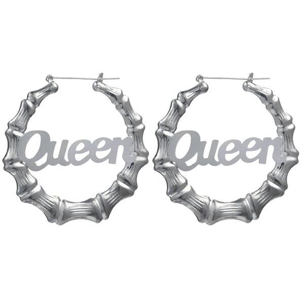Kör alakú Queen fülbevaló