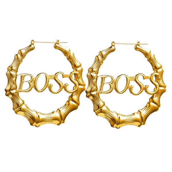 Kör alakú Boss fülbevaló
