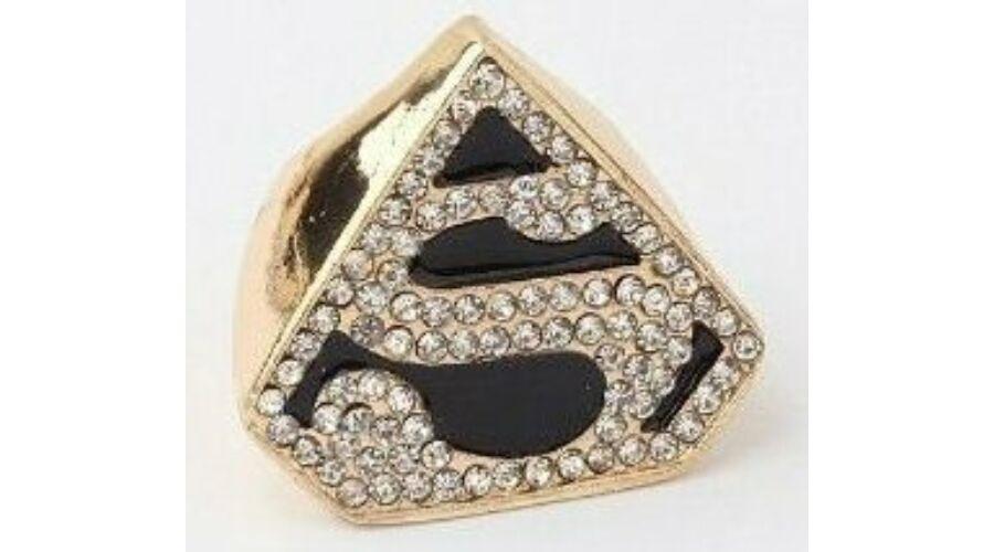 Superman strasszos gyűrű - 1.200 Ft (Egyéb gyűrűk) bc21d0b3df